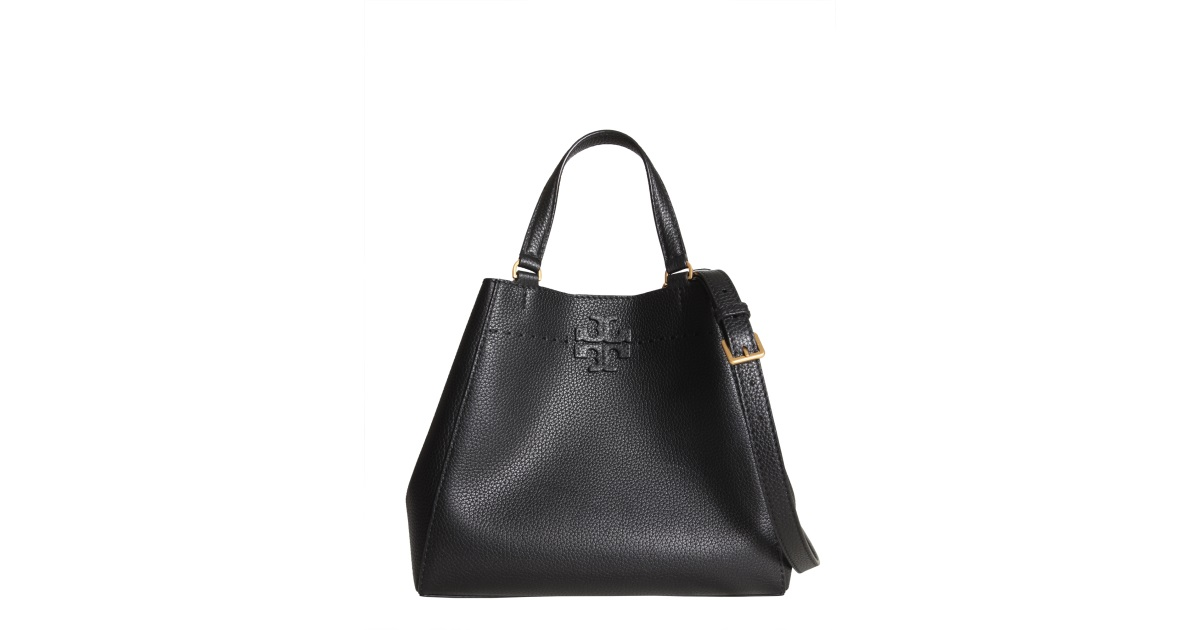 764cc869081b Tory Burch Mcgraw Small Carryall Hammered Leather Bag Women - Eleonora  Bonucci