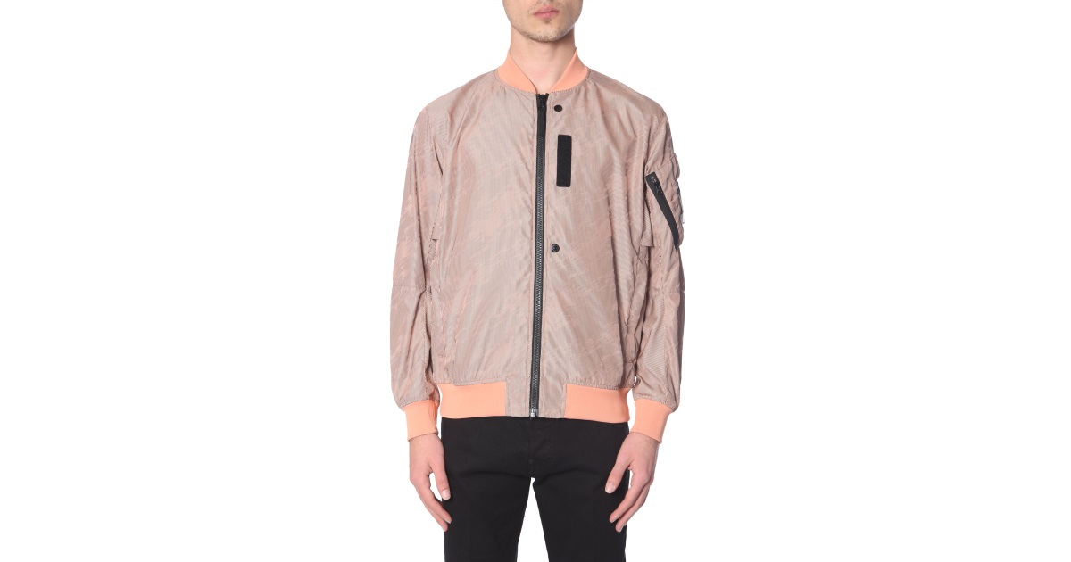 98076c3b3 Stone Island Shadow Project Lenticular Jacquard Bomber In Technical ...